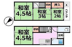 [テラスハウス] 兵庫県尼崎市大庄川田町 の賃貸【/】の間取り