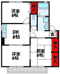 プレジデント鷹見 B棟[2階]の間取り