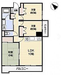 ヒルサイドコート松戸[2階]の間取り
