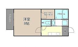 田山プライム[202号室号室]の間取り