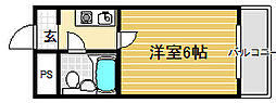COCO堺東2[2階]の間取り