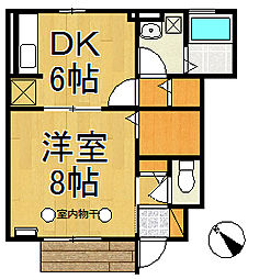 ボナール鎌倉[103号室]の間取り