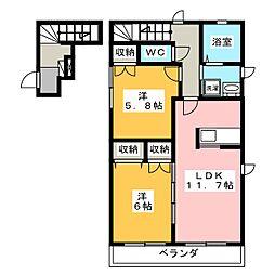 MAISON 紫陽花[2階]の間取り