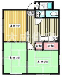 パルハウス成松[3DK号室]の間取り
