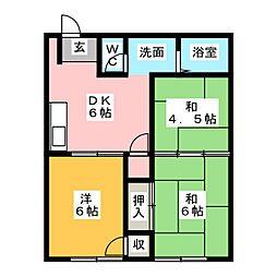 シティハイツイワタ[2階]の間取り