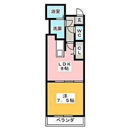 リーヴドゥムール[2階]の間取り