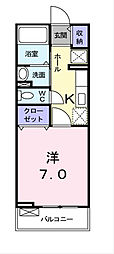 埼玉県新座市野火止7丁目の賃貸アパートの間取り