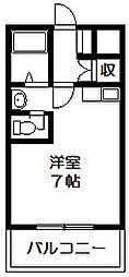 マンションプレザント 荒本新町 荒本4分[6階]の間取り