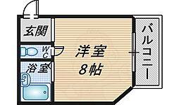 ヴィクトル豊中[4階]の間取り