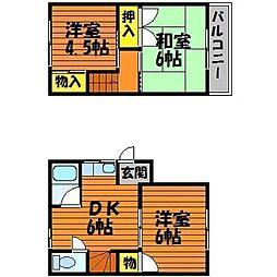 [テラスハウス] 岡山県岡山市中区門田文化町2丁目 の賃貸【/】の間取り