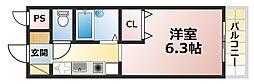 クレアール六甲[4階]の間取り