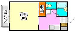 ライブゆうなみ[202号室]の間取り