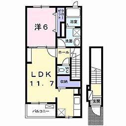 香川県高松市仏生山町の賃貸アパートの間取り