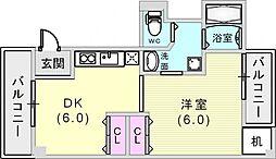 ジョイライフ六甲[2階]の間取り