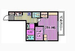 バチュラー大宮[2階]の間取り