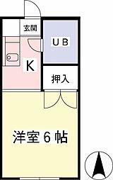 向ノ岡ハイツ3号棟[1階]の間取り