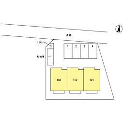 (仮)今羽町D-room新築工事[102号室]の外観