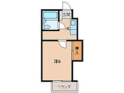 パルティール福島[2階]の間取り