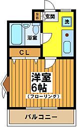 東京都杉並区下高井戸1丁目の賃貸マンションの間取り