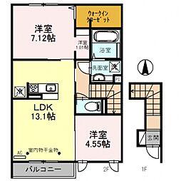 ルアーナB棟[2階]の間取り