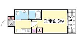 エステムコート神戸ハーバーランド前5アクア[14階]の間取り