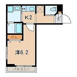 LaLa神泉[1階]の間取り