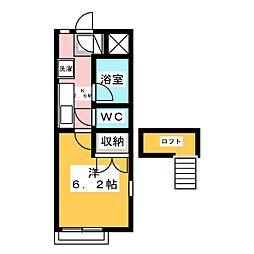 ケントハウス南小泉B[2階]の間取り