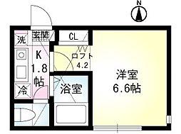 セレーノ田浦I[102号室]の間取り