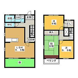 タウン三好ヶ丘 B棟[1階]の間取り