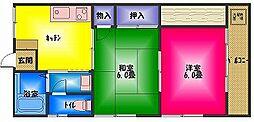 ハイコーポ飯田[3階]の間取り