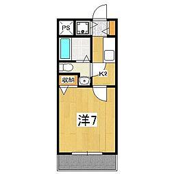 デアッシュ西京極[4階]の間取り