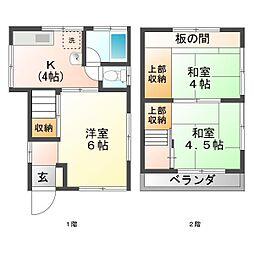 [一戸建] 埼玉県富士見市上沢1丁目 の賃貸【/】の間取り