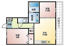 レフィナードカルチェC棟[3階]の間取り