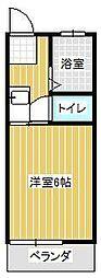 杉浦コーポ[2階]の間取り