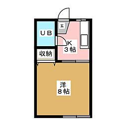 レイクフィールドIII[2階]の間取り