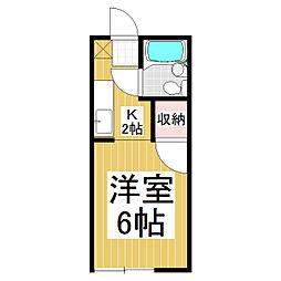 西長野フジハイツ[1階]の間取り