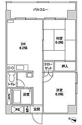 クレインマンション[504号室]の間取り