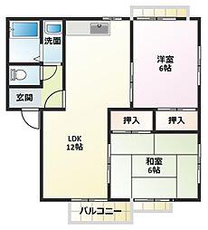 LIDEAR YAMAMOTO B棟[2階]の間取り