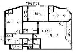 21コートマルナカ[9階]の間取り