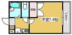 兵庫県姫路市三条町1丁目の賃貸アパートの間取り