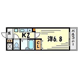 フローラ愛宕山[1階]の間取り