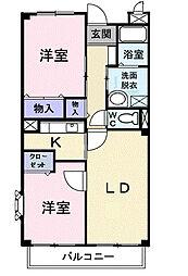 フローレスSUZUKI[2階]の間取り