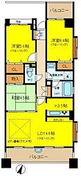 神奈川県川崎市麻生区王禅寺西1丁目の賃貸マンションの間取り