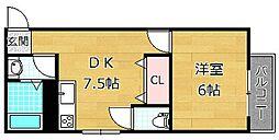 サトーピア香里園[3階]の間取り