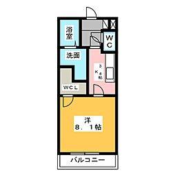 サンマリン[2階]の間取り
