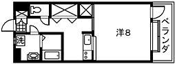 鹿児島県鹿児島市唐湊1丁目の賃貸マンションの間取り