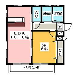 メゾン西大須[1階]の間取り