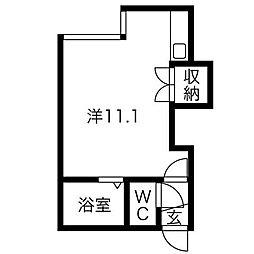 クルーズハウス南5条[2階]の間取り