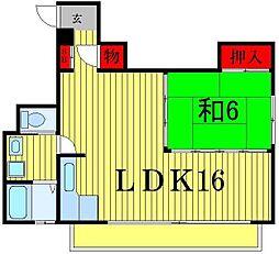 北松戸マンション[5階]の間取り