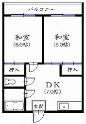 東京都板橋区相生町の賃貸マンションの間取り